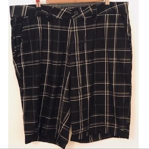 O'Neill Shorts - O'Neill Black plaid flat front shorts size 36